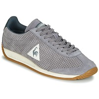 Shoes Men Low top trainers Le Coq Sportif QUARTZ PERFORATED NUBUCK Grey