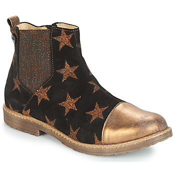 Shoes Girl Mid boots GBB LEONTINA Black / Bronze
