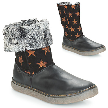Shoes Girl Boots Achile DUBROVNIK Black / Coppery