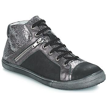 Shoes Girl Boots GBB KAMI Vts / Black-silver / Dpf / Basket