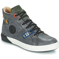 Shoes Boy Boots GBB SILVIO Nuv / Gray-green / Dpf / Evoque