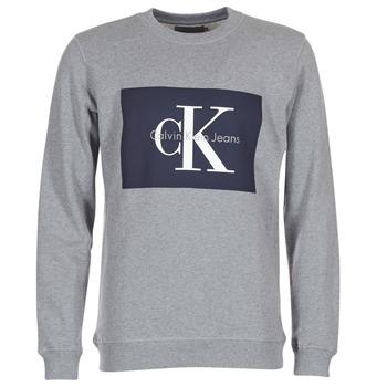 material Men sweaters Calvin Klein Jeans HOTORO REGULAR Grey