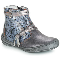 Shoes Girl Mid boots GBB REVA Gray / Blue
