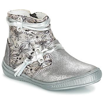 Shoes Girl Boots GBB REVA Grey / Silver-prints / Dpf / Sabina