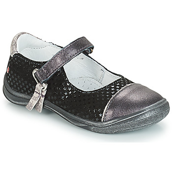 Shoes Girl Ballerinas GBB RIKA Grey / Black