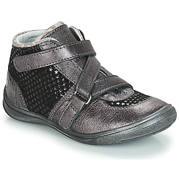 Shoes Girl Mid boots GBB RIQUETTE Grey / Black