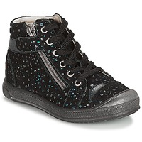 Shoes Girl Mid boots GBB DESTINY Vte / Black / Confetti / Dpf / Edit