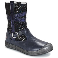 Shoes Girl Mid boots GBB NARCISSE Vte / Marine-confetti / Dpf / Edit