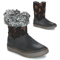 Shoes Girl Boots GBB DUBROVNIK Black / Grey