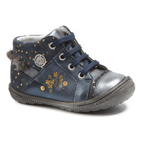 Shoes Girl Mid boots Catimini RIKI Vtc / Marine-pois / Gold / Dpf / 2822