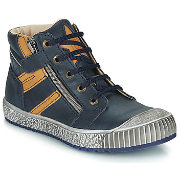 Shoes Boy High top trainers Catimini RAMBOUTAN Marine / Ocre tan
