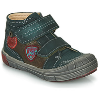 Shoes Boy Mid boots Catimini ROMARIN Green / Brown