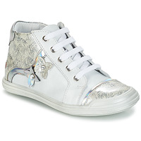 Shoes Girl High top trainers GBB SATYA White / Silver