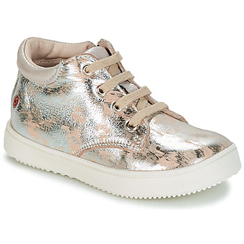 Shoes Girl High top trainers GBB SACHA Beige / Silver