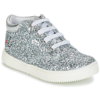 Shoes Girl High top trainers GBB SACHA Silver