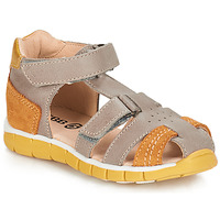 Shoes Boy Sandals GBB SPARTACO Grey / Orange