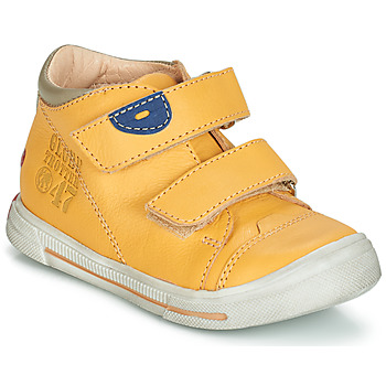 Shoes Boy Mid boots GBB SAMY Vte / Yellow / Dpf / Snow