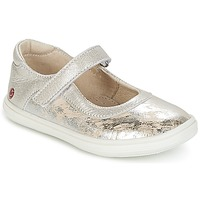 Shoes Girl Ballerinas GBB PLACIDA Vte / Beige-silver / Dpf / Cuba