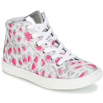 Shoes Girl Mid boots GBB SERAPHINE Grey / Pink / White