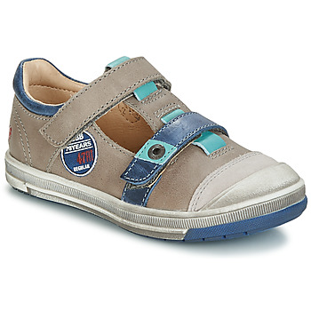 Shoes Girl Ballerinas GBB SCOTT Grey / Blue