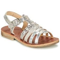 Shoes Girl Sandals GBB BANGKOK Vte / Silver / Dpf / Coca