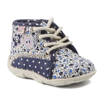 Shoes Girl Slippers GBB PAT Marine-flower / Dtx / Amis