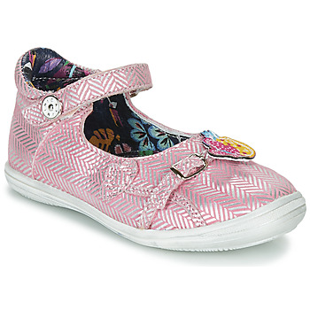 Shoes Girl Sandals Catimini SITELLE Vte / Pink-silver / Dpf / 2851