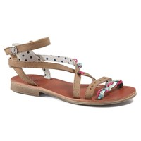Shoes Girl Sandals Catimini SAPHIR Vte / Brown turquoise / Dpf / Coca