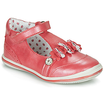 Shoes Girl Ballerinas Catimini SANTOLINE Vte / Red / Mother-of-pearl / Dpf / 2851