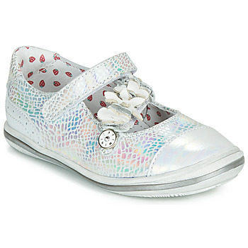 Shoes Girl Ballerinas Catimini STROPHAIRE Vte / Silver / Dpf / 2851