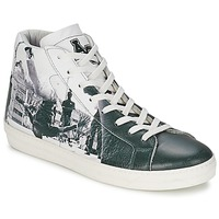 Shoes Men High top trainers American College BREAKDANCE Black / White