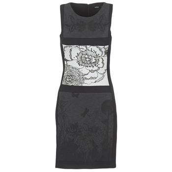 material Women Short Dresses Desigual POARTI Black / Grey