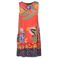 material Women Short Dresses Desigual DADADAO Red