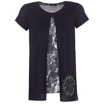 material Women short-sleeved t-shirts Desigual NUTILAD Black