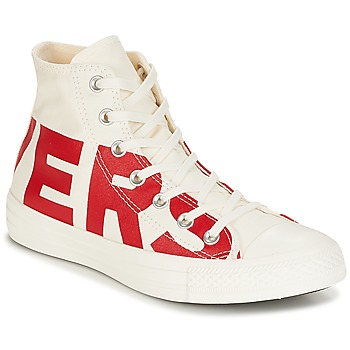 Shoes High top trainers Converse Chuck Taylor All Star Hi Converse Wordmark White / Red