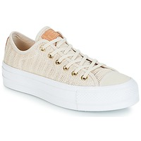 Shoes Women Low top trainers Converse Chuck Taylor All Star Lift-Ox Beige / White