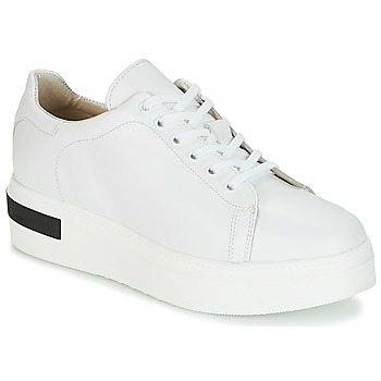 Shoes Women Low top trainers Sweet Lemon BISTRO White