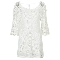 material Women Short Dresses Banana Moon MAGBY DREAMLAND White