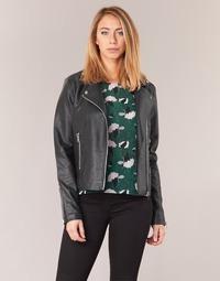 material Women Leather jackets / Imitation le Vila VICARA Black