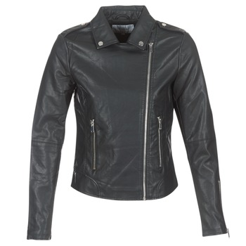 material Women Leather jackets / Imitation le Vila VICARA Black