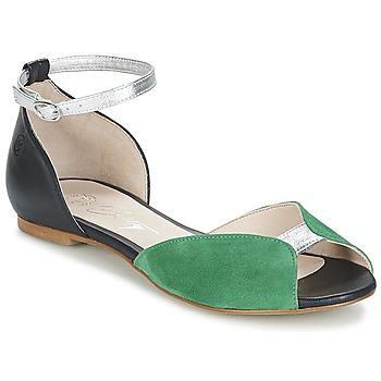 Shoes Women Sandals Betty London INALI Black / Silver / Green