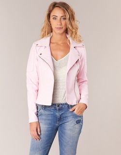material Women Leather jackets / Imitation le Noisy May NMREBEL Pink