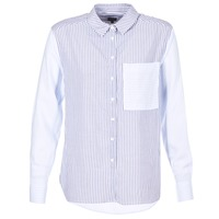 material Women Shirts Pepe jeans MILA White / Blue