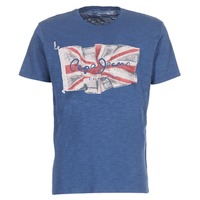 material Men short-sleeved t-shirts Pepe jeans FLAG LOGO Marine