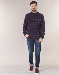 material Men slim jeans Le Temps des Cerises LOURITA Blue / Raw