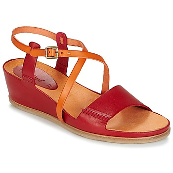 Shoes Women Sandals Kickers TAHITI Red / Orange