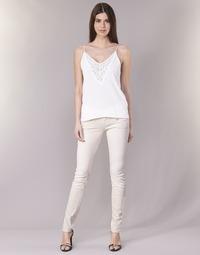 material Women 5-pocket trousers Freeman T.Porter ALEXA SLIM MAGIC COLOR Pink