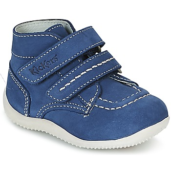 Shoes Boy Mid boots Kickers BONKRO Blue