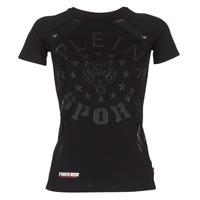 material Women short-sleeved t-shirts Philipp Plein Sport FORMA LINEA Black