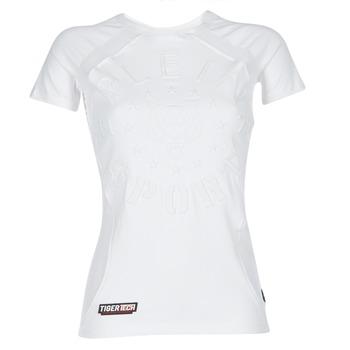 material Women short-sleeved t-shirts Philipp Plein Sport FORMA LINEA White / White